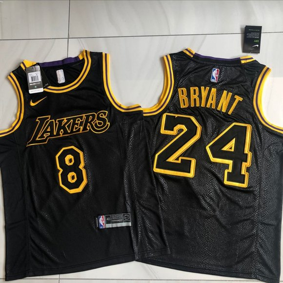 Nike Shirts & Tops | Youth Lakers 24 Kobe Black Mamba Jersey 8 24 ...